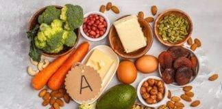 Ilustrasi gambar bahan makanan yang mengandung Retinol dari Vitamin A