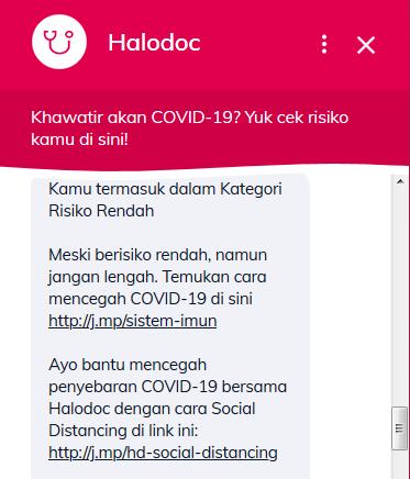 cara cek virus corona di Halodoc